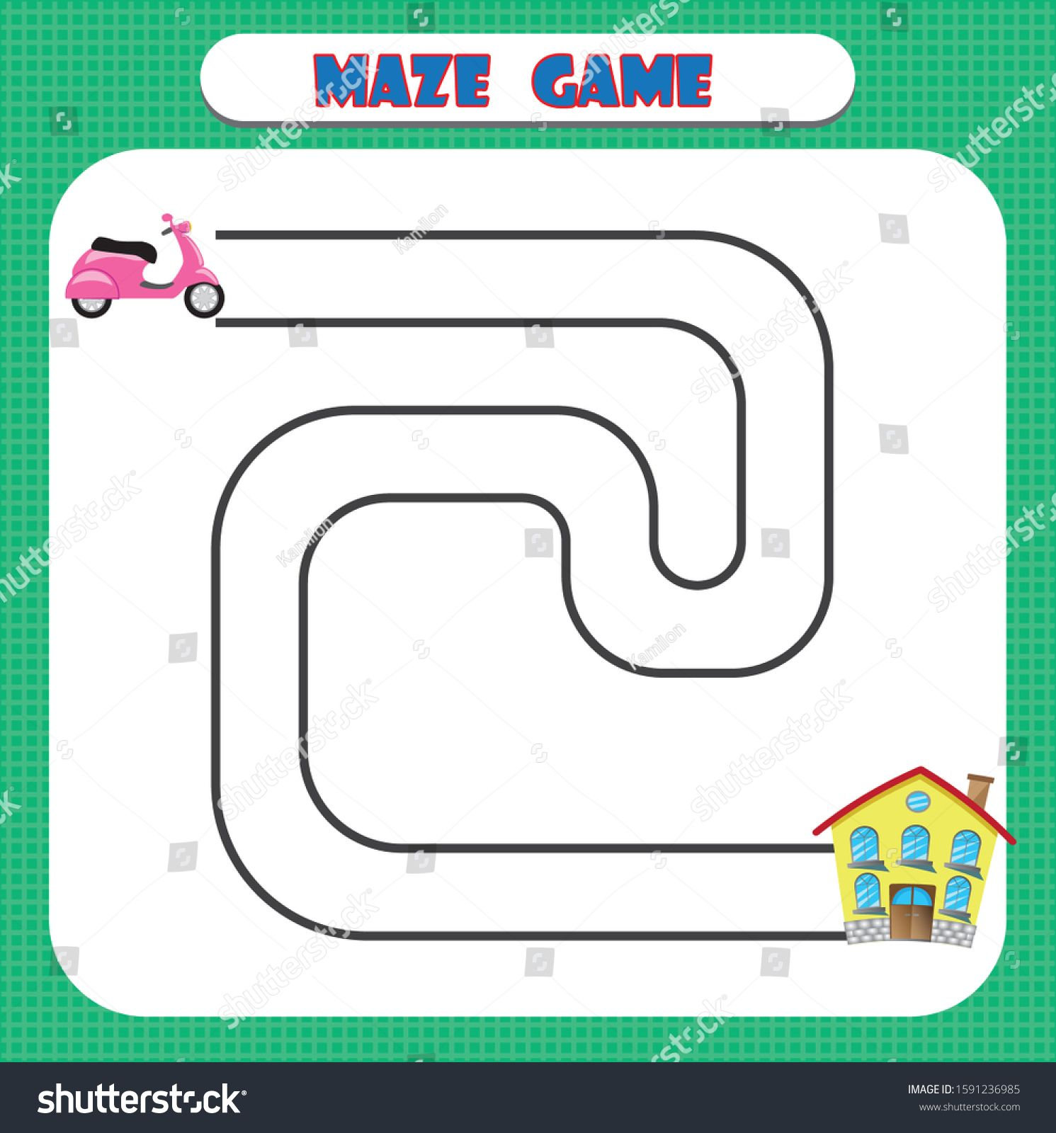 Maze Game For Children Education Developing Worksheet Ad