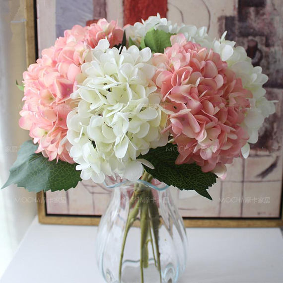 Pinterest & Light Pink Flowers Artificial Silk Hydrangea 10 Flowers Pink ...