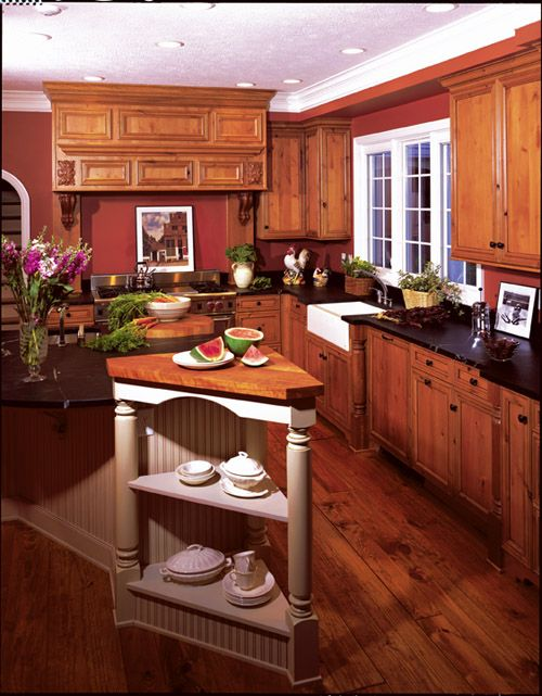 Lots Of Rich Dark Wood In This Kitchen Creates A Warm Look Http://