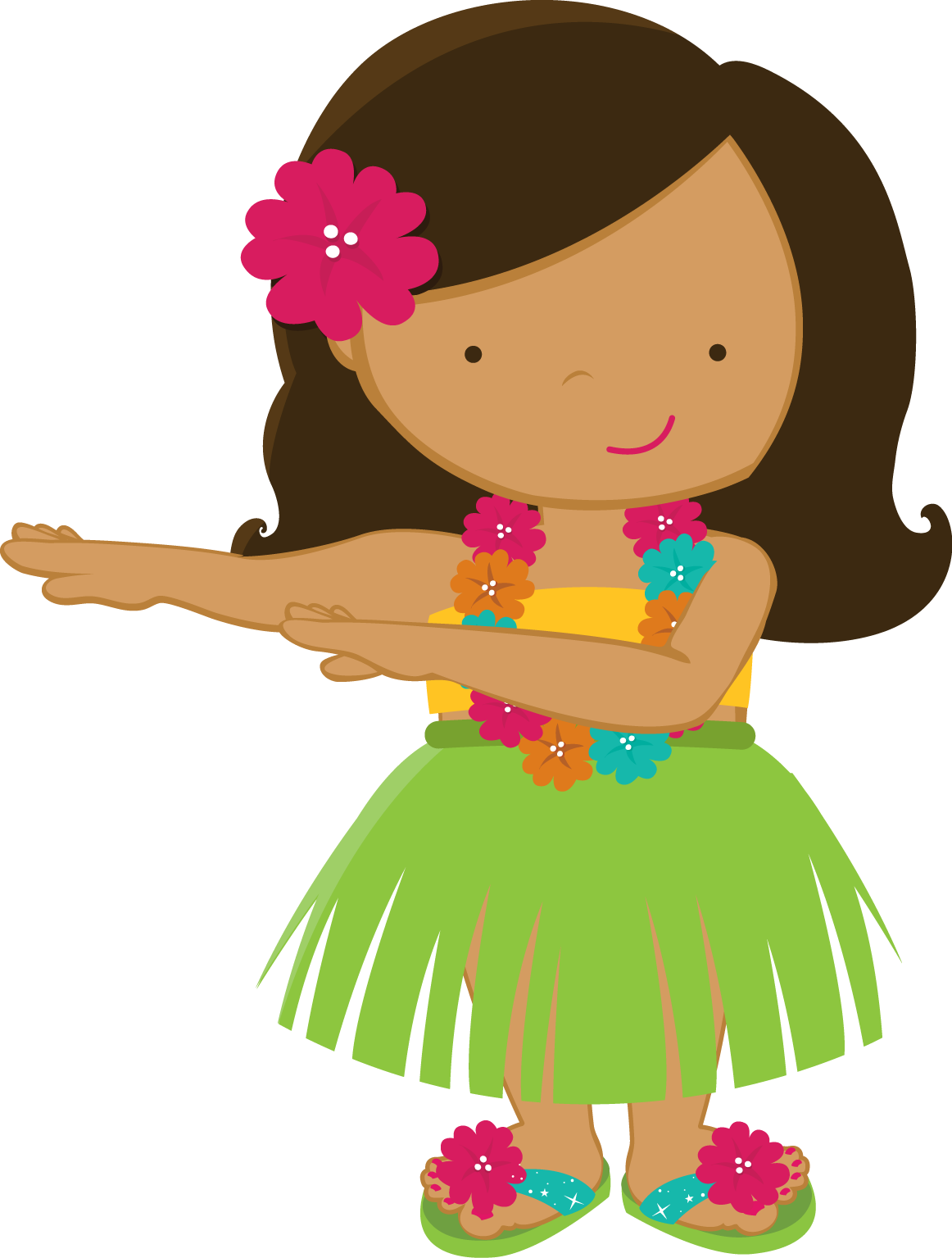 hight resolution of hula girl clipart clipart suggest
