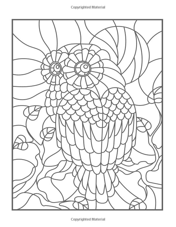Amazon Com Stained Glass Coloring Art Nouveau Coloring Book Large Print 9781979027748 Craft Besties Books Mandala Coloring Pages Mandala Coloring Mandala