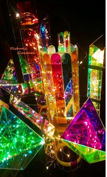 A Cinderella City Of Beautiful Dichroic Boro Glass