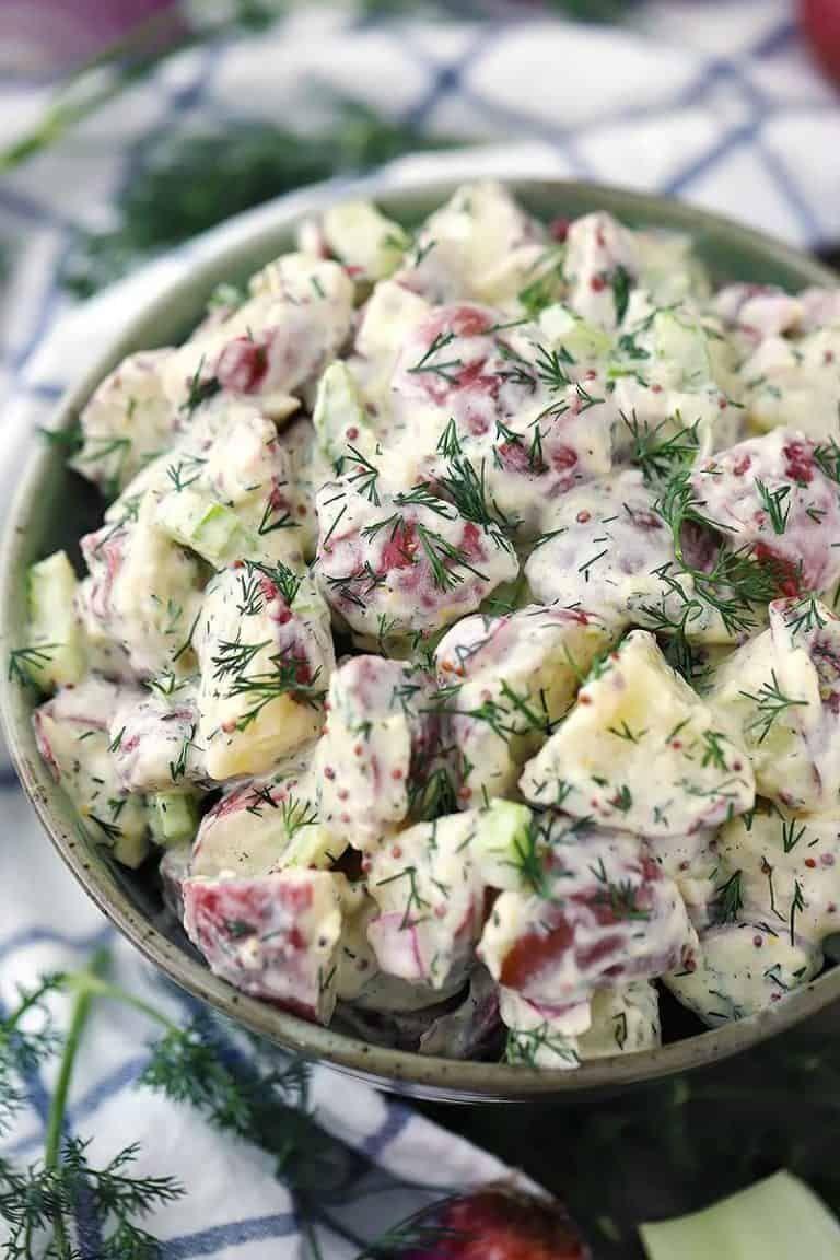 Dill Potato Salad With Mustard Buttermilk Dressing Bowl Of Delicious Recipe Best Potato Salad Recipe Potatoe Salad Recipe Dill Potatoes