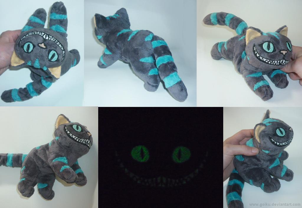 Peluche Chat Alice Au Pays Des Merveilles Cheshire Cat Glow Small Floppy 2 By Goiku