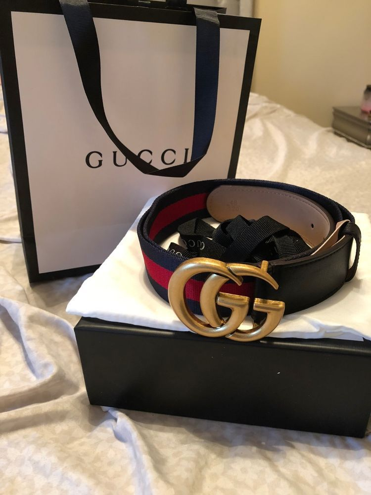 df512583805 Mens 90CM Gucci Belt Blue   Red With Gold GG Buckle  fashion  clothing   shoes  accessories  mensaccessories  belts (ebay link)