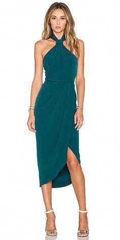 Teal Knee length Halter Cheap Bridesmaid dress,Formal elegant dress for bridesmaids,FS158 from romanticdress
