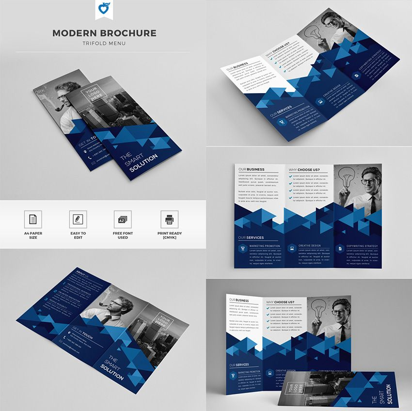 The Trifold Modern Brochure Template MAGAZYNY X OKŁADKI - video brochure template