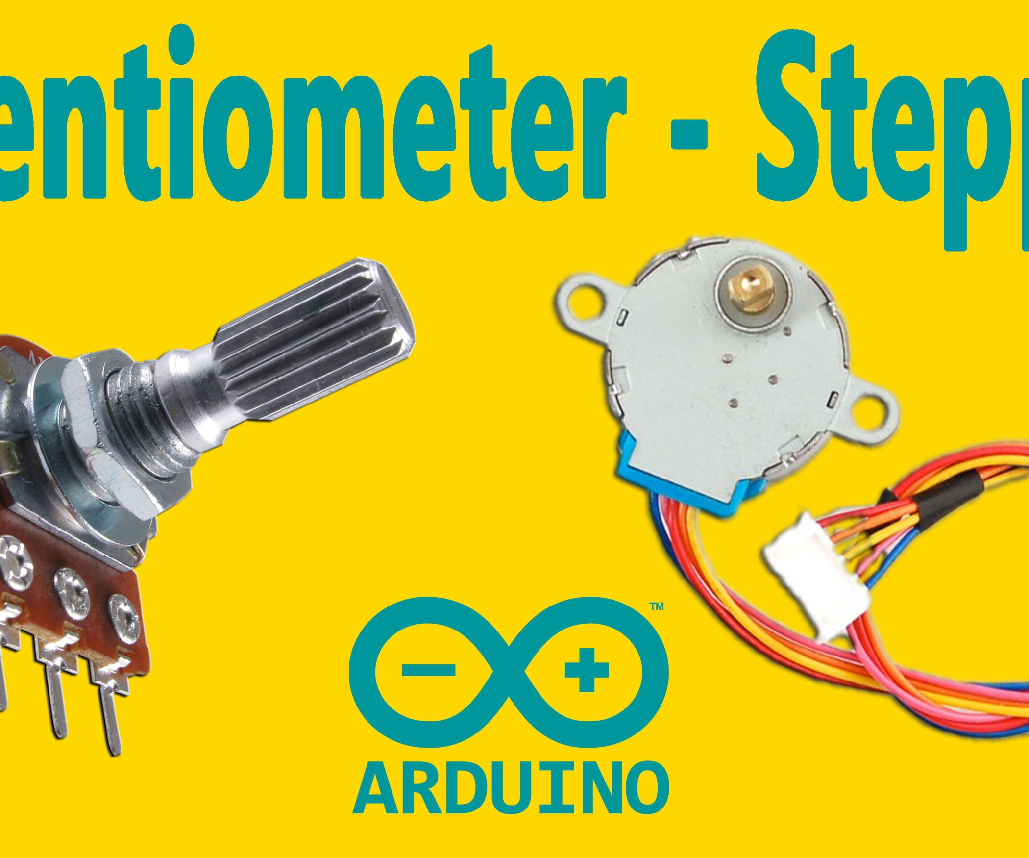 Arduino How To Control A Stepper Motor With Potentiometer 12v Geared 4 Phase 5 Wires For Experiment This Instructable Is The Written Version Of My Youtube Video That Ive Uploaded Recently