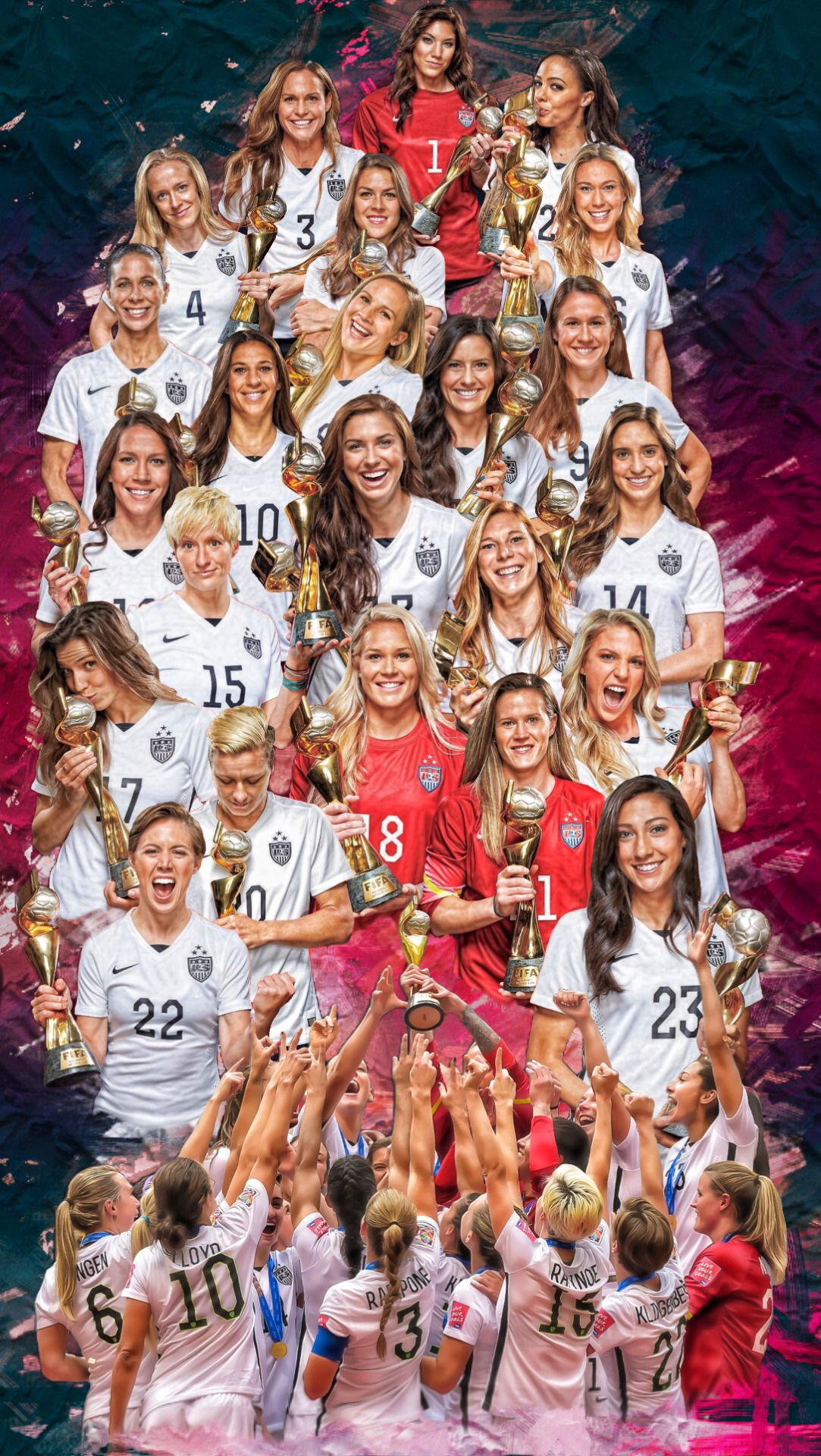Uswnt Girlpower Another Win Four World Cup Wins 1991 1999 2015 And 2019 Usa Soccer Team Girls Soccer Team Usa Soccer Women