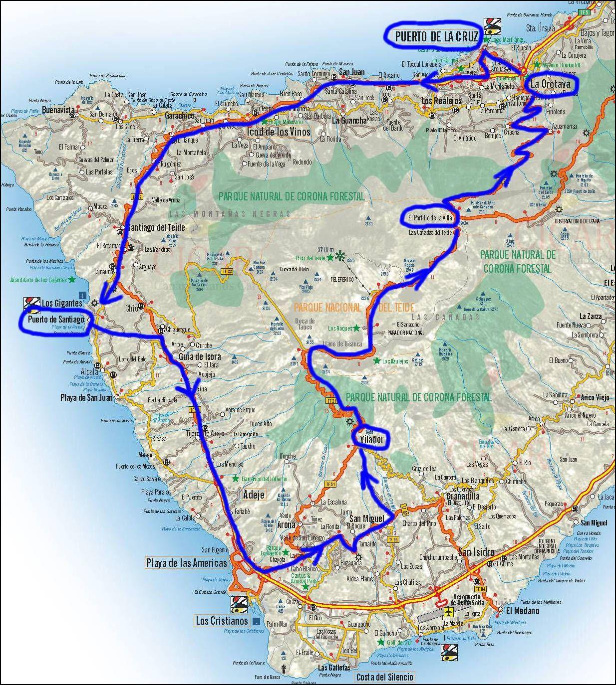 Volcan Teide La Orotava Puerto De La Cruz Iles Canaries Voyage Voyage Tenerife Ile De Tenerife
