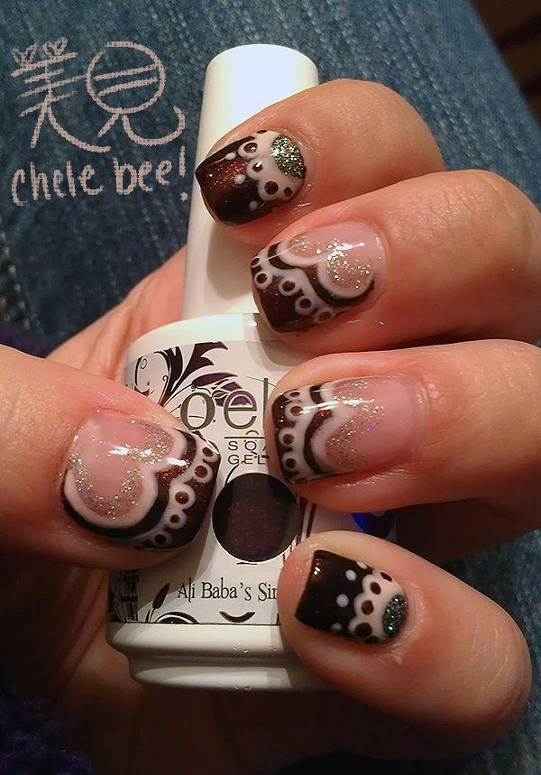 Black, White Cut out Nail design | Cutout Nail Designs | Pinterest