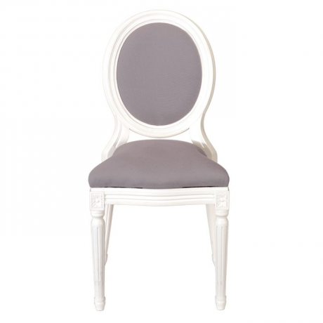 Good Montaigne Padded Chair White Pearl Grey Fire Retardant