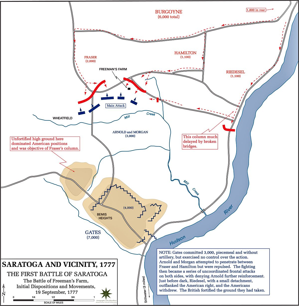Battle Of Saratoga My Ancestor Lot Fuller Fought In This