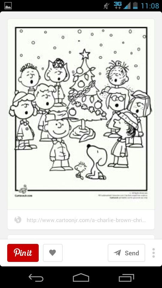 Peanuts sing together with tree | Christmas | Pinterest