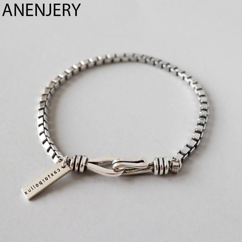 Double Hook Box Chain Bracelet For Men In 2020 Bracelets For Men Chain Bracelet Box Chain