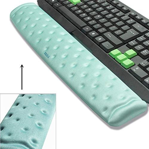 BRILA Memory Foam Mouse  Keyboard Wrist Rest Support Pad Cushion Set for Computer Laptop