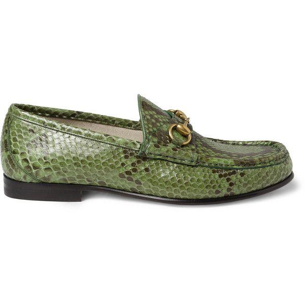 GucciHorsebit Python Loafers|MR PORTER ($1,105) via Polyvore