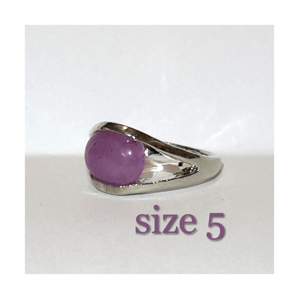 Beautiful unique Purple Gemstone Women's Ring size 5 #jewelry  #gift #shopping