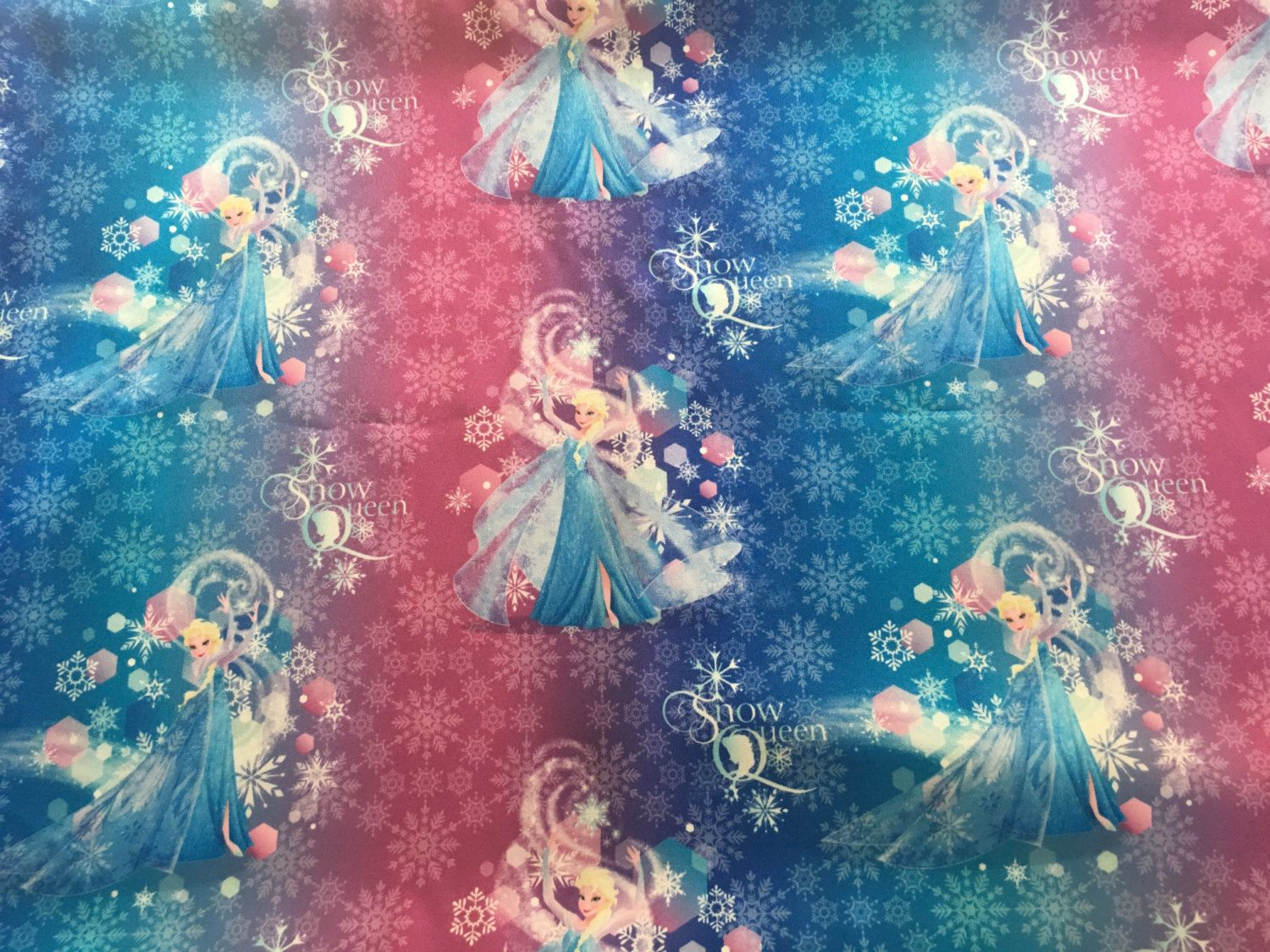 Frozen Elsa Snow Queen Ombre Brushed Back Satin Fabric By Springs Creative For Disney 58 Onlinebargainsgalore On Etsy