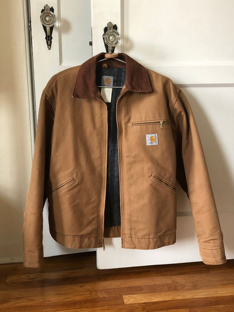 4aceed55 Carhartt men's Duck Detroit Jacket / 42 / Brown / Used #fashion ...