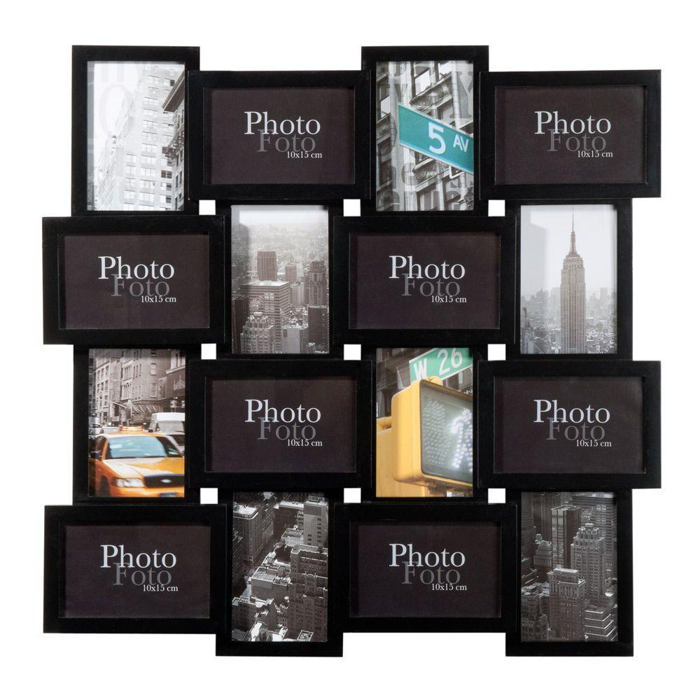 Cadre 16 vues relief noir maisons du monde 36 99 next apartment pinterest maison - Maison du monde cadre photo ...