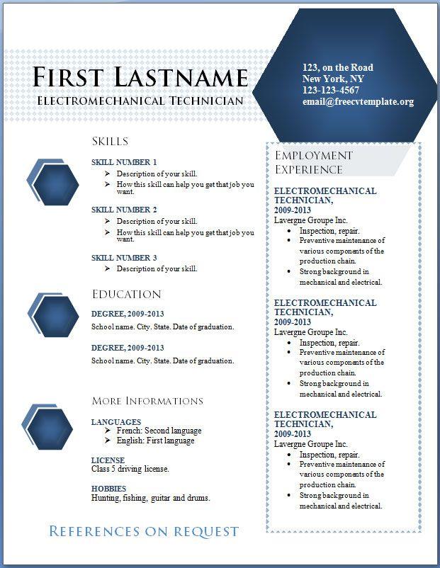 free_cv_template_79jpg (621×802) cv Pinterest Free resume - free resume templates word