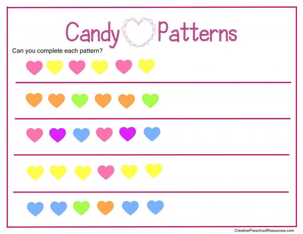 Free Valentine Math Printables Preschool K