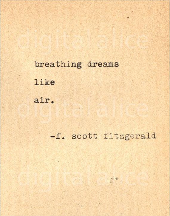 Vintage Typewriter Print F Scott Fitzgerald Quote Wall Art Etsy Scott Fitzgerald Quotes Fitzgerald Quotes Words