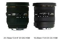 Sigma 24-70mm F/2.8 EX DG HSM & Sigma 10-20mm F3.5 EX DC HSM