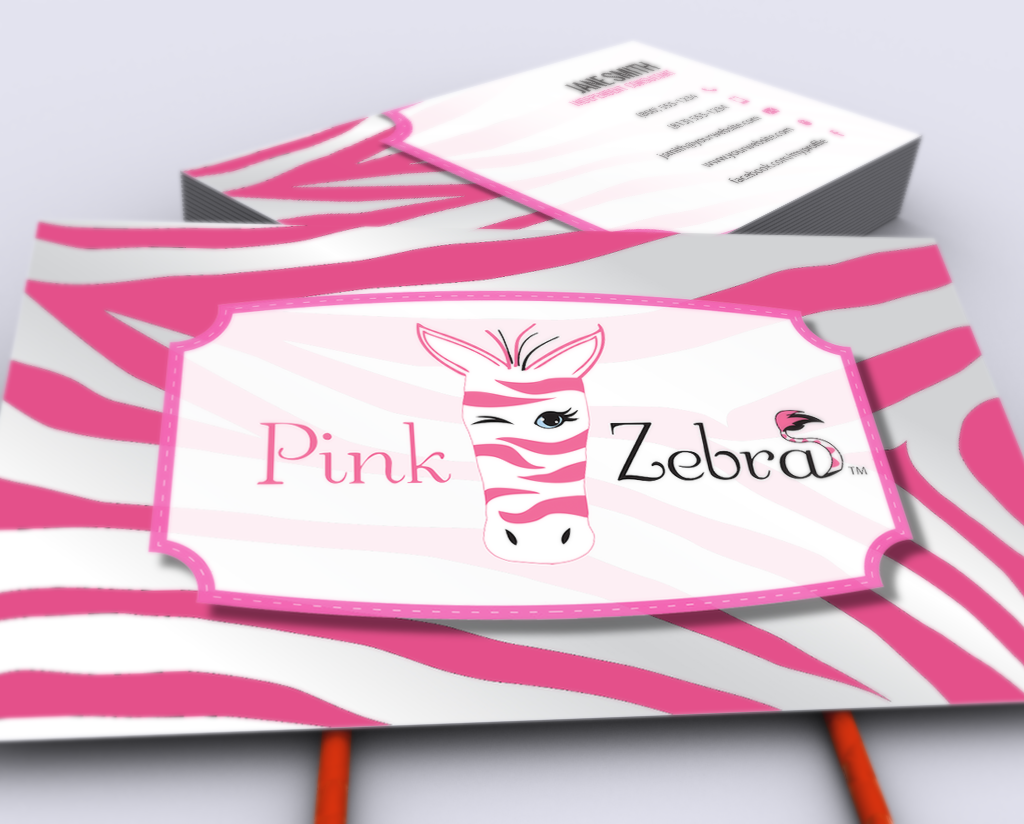 Our New Pink Zebra Business Cards Are Here Mlm Pinkzebra Print Paper Graphicdesign Businesscards Contactcard Mar Free Business Cards Pink Zebra Cards