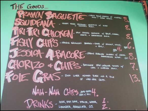 Eurotrash Food Cart Menu - Portland, Oregon