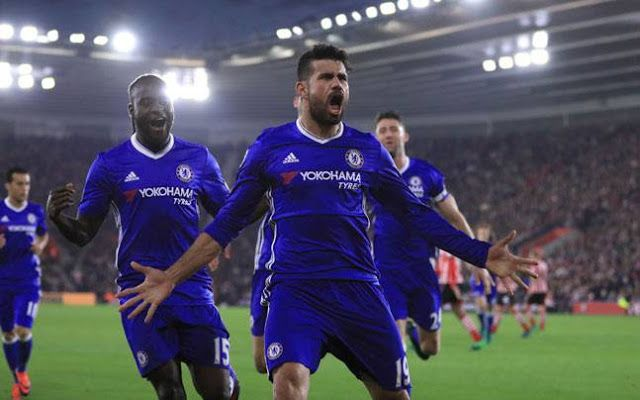 Costa Scores Twice As Premier League Leaders Defeat Southampton At Stamford Bridge