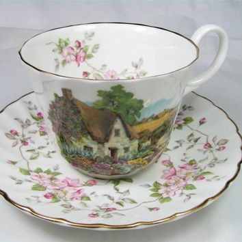 Fine China Tea Sets | Vintage ROYAL GRAFTON Fine Bone CHINA Tea Cup and Saucer Set ... More