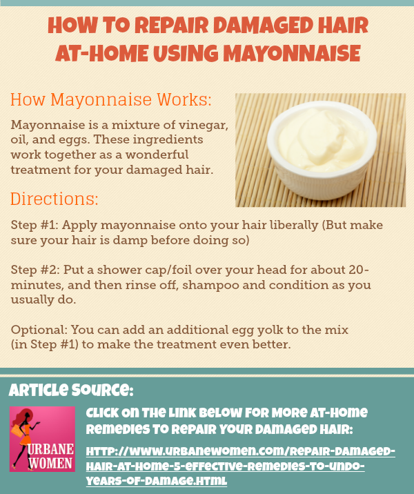 How To Repair Damaged Hair AtHome Using Mayonnaise (Step