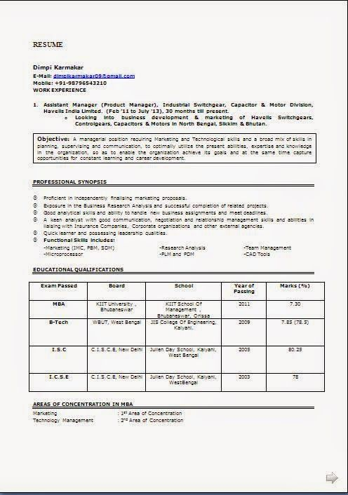 examples of resume writing Sample Template Example ofExcellent ...