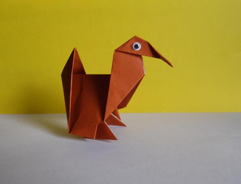 How To Make An Origami Turkey Ms Origami Favorites Pinterest