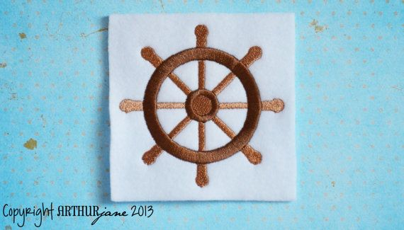 Boat Wheel Nautical Embroidery Design for Machine by ARTHURjane, $3.99