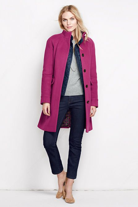 Women's Luxe Wool Car Coat from Lands' End | Just for me | Pinterest