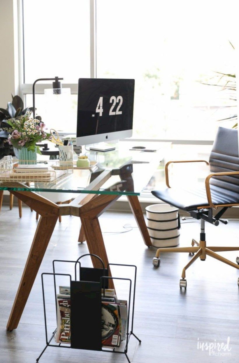 43 Charming Vintage Home Office Decoration Ideas   Pinterest ...
