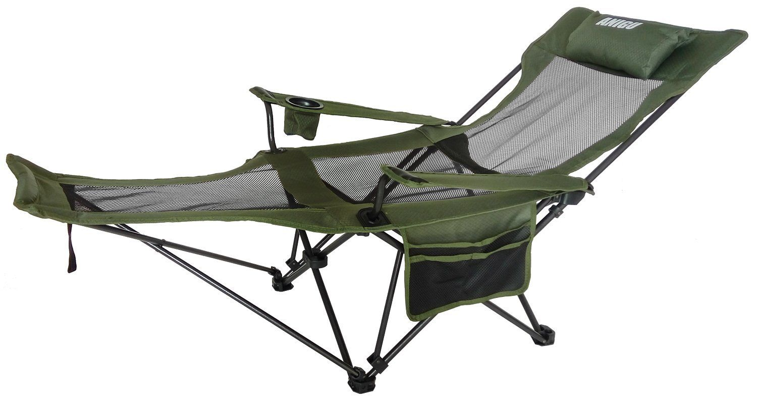 Bag Chair With Footrest Polywood Lounge Chairs Anigu Mesh Reclining Folding Camp