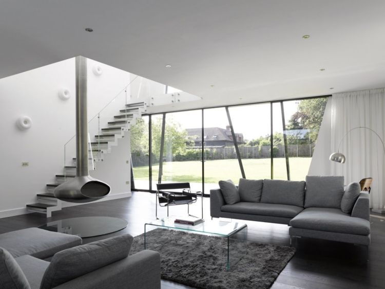 wohnzimmer in grau eckcouch ideen, wohnzimmer in grau mit eckcouch im mittelpunkt - 55 ideen, Design ideen