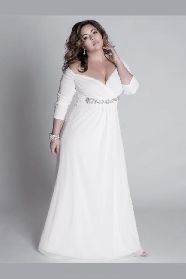 Herrliche Brautkleider Weiß, Plus Size Brautkleider ...