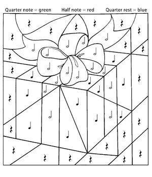 As Simple And Fun As A Color By Number The Students Will Use The Key At The Top Of The Music Coloring Sheets Music Coloring Printable Christmas Coloring Pages