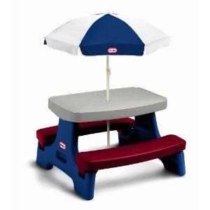 Child S Plastic Picnic Table Little Tikes Easy Jr Play With Umbrella