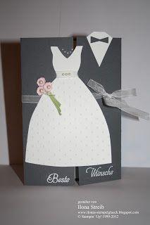 Bei Heikes Kartenwerkstatt Habe Ich Idee Für Se Hochzeitskarte Gesehen Fand Irgendwie Originell Sod Sie Gleich
