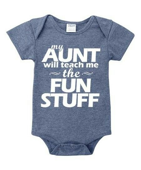 My Auntie Loves Me not Cars Baby Vests Bodysuits Baby Grows Graphic Print