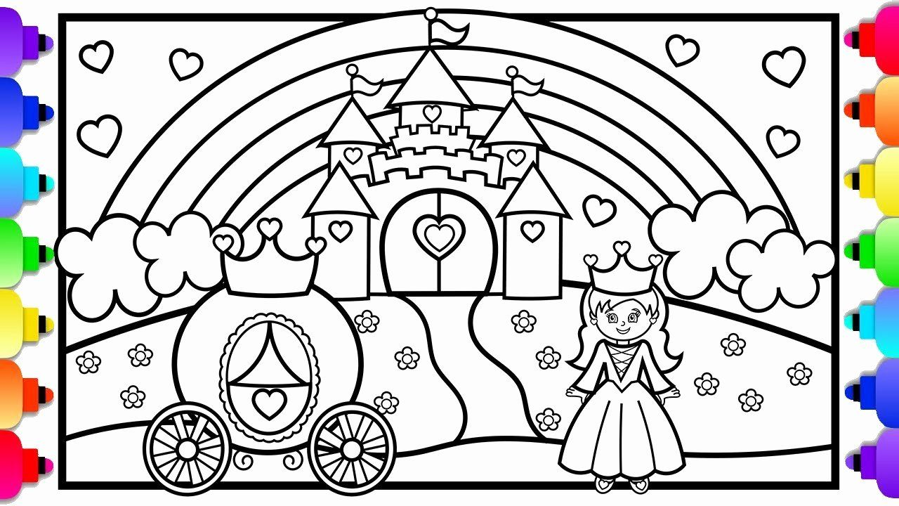Princess Unicorn Coloring Page Inspirational Coloring Coloring Pages For Kids Princessesstle Printable