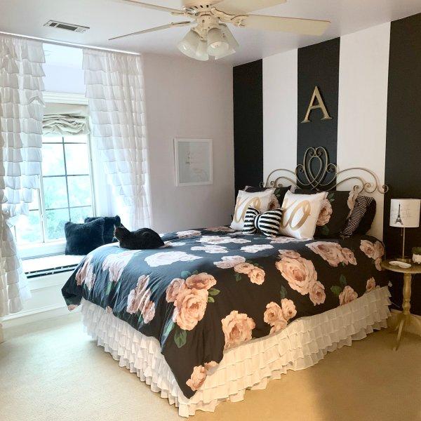 The Emily Meritt Bed Of Roses Duvet Cover Sham Black Blush In 2020 Black Bedroom Decor Girl Bedroom Walls
