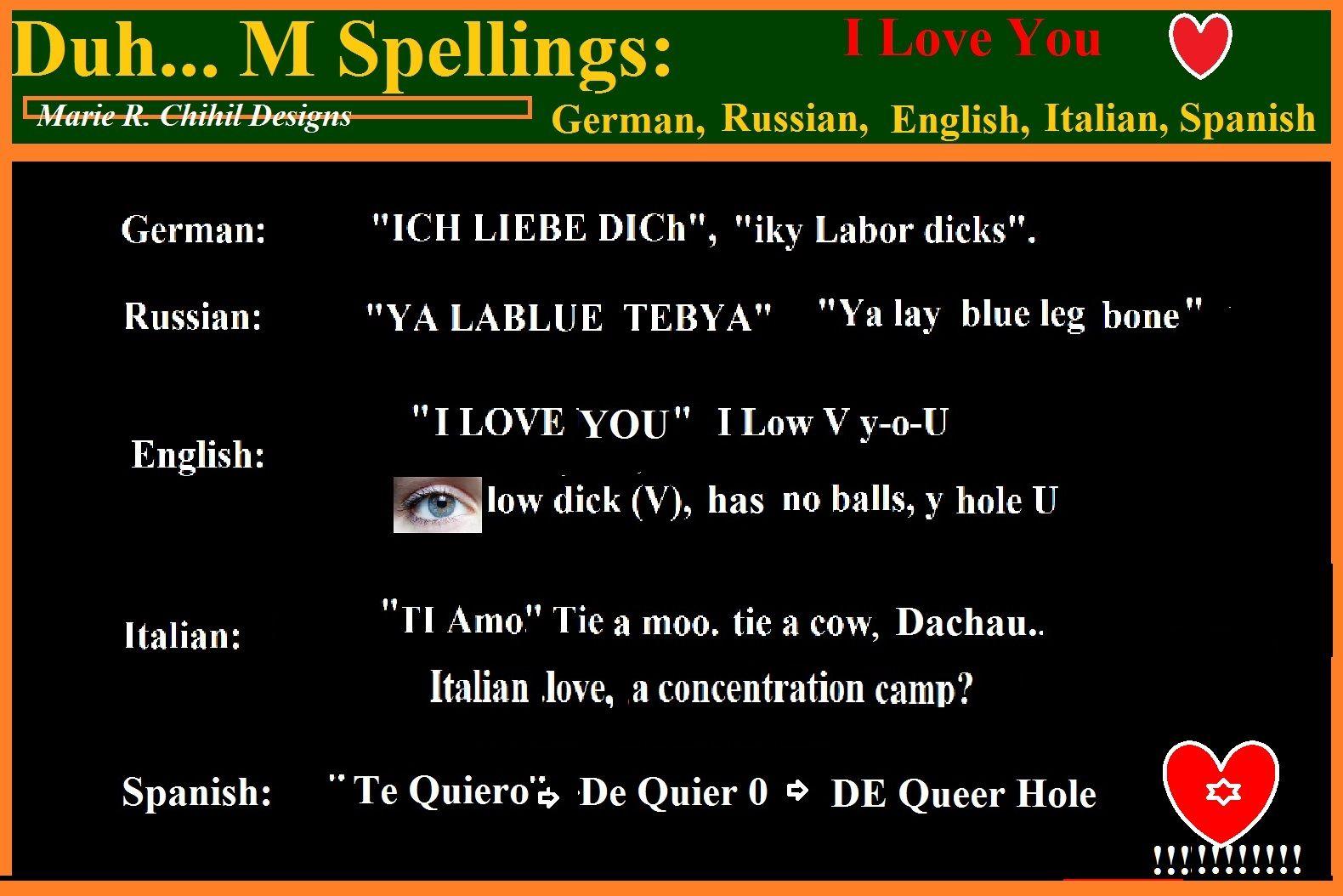 i love you in german russian english italian spanish