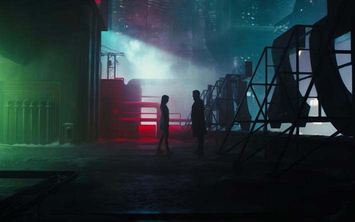 Download Wallpapers 4k Blade Runner 2049 2017 Movie Art Thriller Poster Besthqwallpapers Com Blade Runner Blade Runner 2049 Roger Deakins